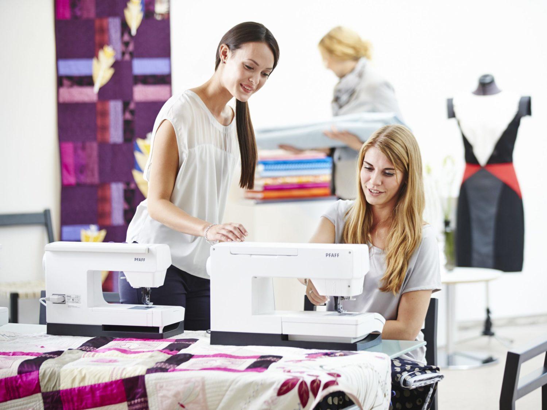 Ladies sewing on PFAFF Sewing Machines