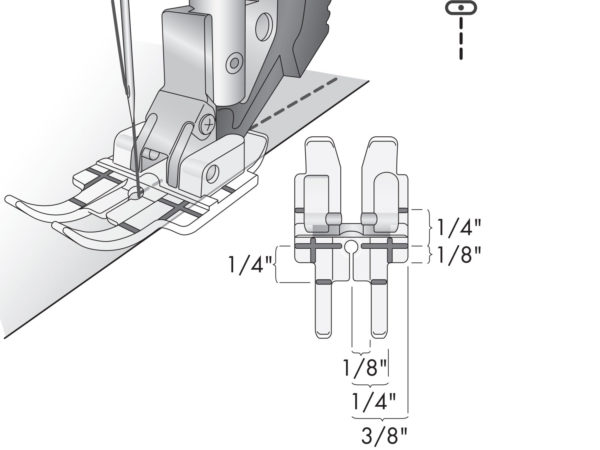 clear quarter inch foot illustration