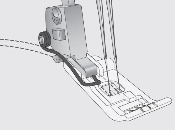Clear Coverstitch Foot - INSPIRA®