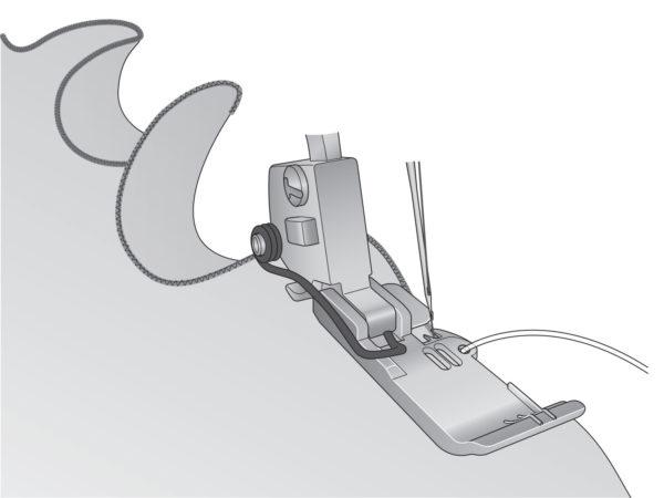 Corded Wavy Edge Foot - INSPIRA®