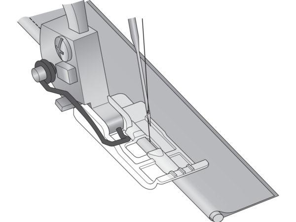 overlocker piping foot illustration
