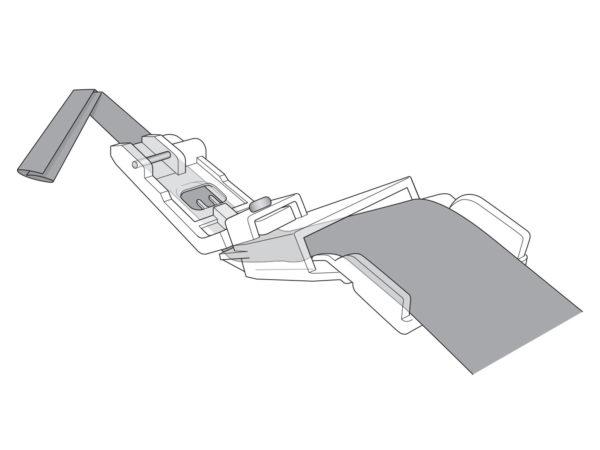 strap and loop belt foot ilustration