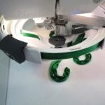 pfaff ribbon embroidery attachment in use